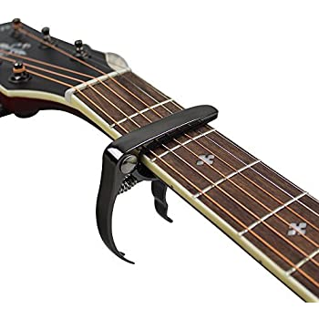 muke metal guitar capo clamp quickly change lightweight zinc alloy with bridge pins. Black Bedroom Furniture Sets. Home Design Ideas