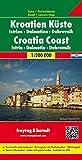 Kroatien Küste - Istrien - Dalmatien - Dubrovnik, Autokarte 1:200.000, freytag & berndt Auto + Freizeitkarten)
