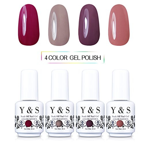 Yaoshun Gel nail polish Soak-off UV LED Nail 8ml -kit#005