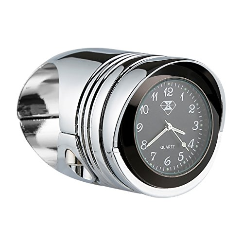 XMT-MOTO Universal Motorcycle Aluminum Handlebar Mount Clock fit 1 1/4