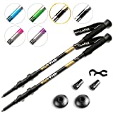 High Trek Ultralight Trekking Poles w/Sweat Absorbing EVA Grips – 2 pc Pack – Your Collapsible Hiking/Walking Sticks Come with Tungsten Tips and Flip Locks – Enjoy The Outdoors