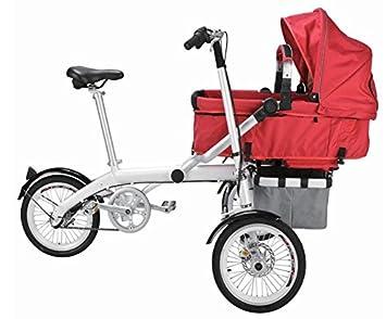 grupo Contact- Bicicleta con carrito bebe trirueda (PI-13)-3: Amazon.es: Deportes y aire libre