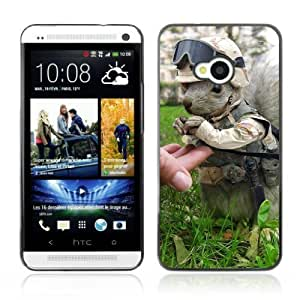 Designer Depo Hard Protection Case for HTC One M7 / Squirrel Soldier