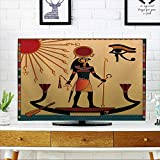 PRUNUS Front Flip Top Religion of Ancient Egypt The Gods of Ancient Egypt Aten and Ra Ra in The Solar bark Front Flip Top W20 x H40 INCH/TV 40''-43''
