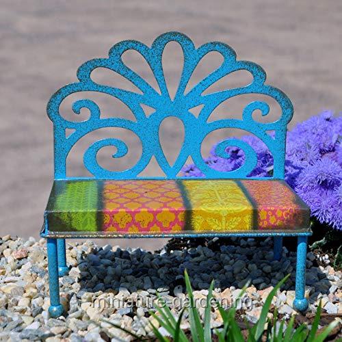 OKSLO Filigree patterned bench for miniature garden, fairy garden