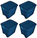 Sterilite 14487404 Latch Tote, 26 Gallon (Pack of 4)