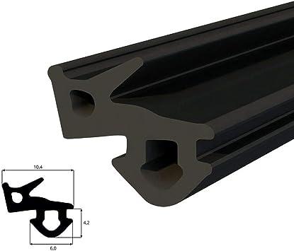 color negro 50 metros, S-232 Panorama, PVC, para ventanas de pl/ástico Junta para ventanas DQ-PP