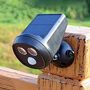 Rotatable Solar Power 2 LED Owl Shape PIR Sensor Spotlight Garden Yard Waterproof Wall-mounted Lamp