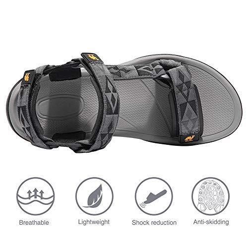 CAMEL CROWN Sandalias de Playa para Hombres Almohadillas de Goma y Tiras de Velcro con Suela de Goma de Verano Caminar de Gran tamaño: Amazon.es: Zapatos y ...