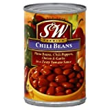 S&W Chili Beans, 15.5-Ounce (Pack of 12)