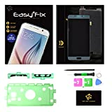 KR-NET Easy2Fix LCD Screen Touch Digitizer Assembly Replacement Tool Kit + Pre-Cut adhesive Sticker for Samsung Galaxy Note 5 N920 N920A N920P N920T N920V (Silver Titan)
