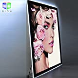 Led Magnetic Acrylic slim Light Box For Store Sign Display With Crystal Photo Frame