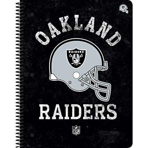 C.R. Gibson 1-Subject Spiral Notebook, Vintage Oakland Raiders (N943230WM)