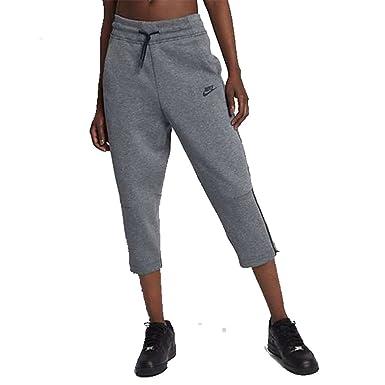 da35e879a645 Nike Sportswear Tech Fleece Women s Lifestyle Sneaker Pants Carbon  Heather Black 908824 091 (xs