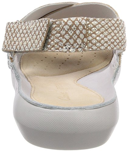 Back Metallic Tri Sandals Women''s Silver Sling Chloe Clarks A4qfw6W