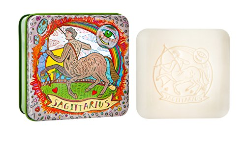 Pre De Provence Zodiac Tin Bar Soap, Sagittarius, 100 (Soap Tin)
