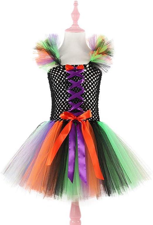 ZGCP Disfraz de Halloween Ropa para niños Bruja Princesa Vestido ...