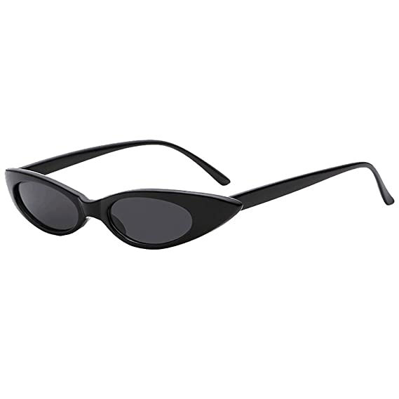 bbca060745d Amazon.com  ZHANGVIP Clearance Sale 2018 New Retro Vintage Clout Cat Unisex  Sunglasses Rapper Oval Shades Grunge Glasses (D)  Sports   Outdoors