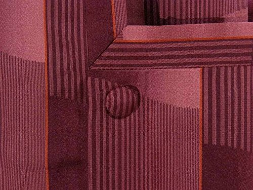 リサイクル 雨コート 石畳文様 正絹 裄64.5cm 身丈129cm