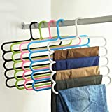 Labu Store 1Pc Multi-Purpose Five-layer Pants Hanger Tie Towels Clothes Rack Space Saving Home Organization