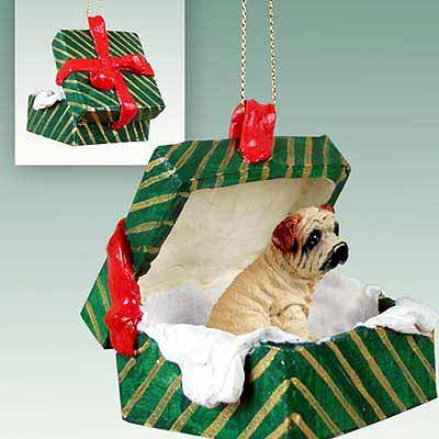 (Conversation Concepts Shar Pei Cream Gift Box Green Ornament)