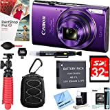 Cheap Canon PowerShot ELPH 360 HS Digital Camera (Purple) + 32GB Deluxe Accessory Bundle