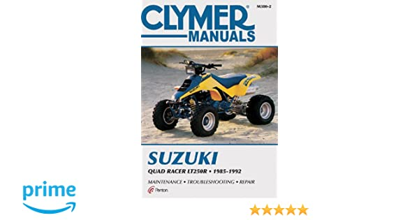 Suzuki quad racer lt250r clymer manuals motorcycle repair penton suzuki quad racer lt250r clymer manuals motorcycle repair penton staff 9780892879083 amazon books fandeluxe Choice Image