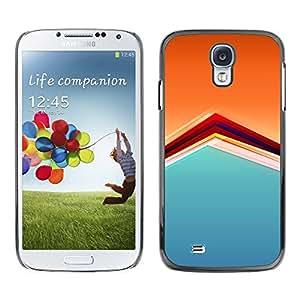 TopCaseStore / la caja del caucho duro de la cubierta de protección de la piel - Pattern Orange Soothing Calm Pastel - Samsung Galaxy S4 I9500