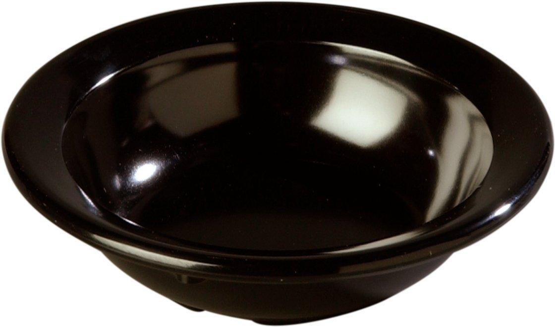 Melamine Set of 48 3-1//2-Ounce Carlisle 4353203 Fruit Bowls Black