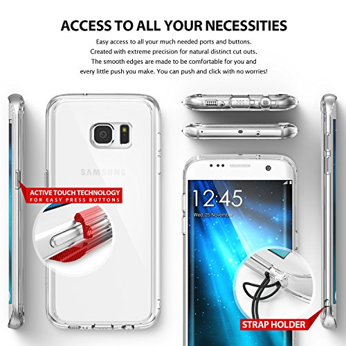 Galaxy S7 Edge Case, Ringke [FUSION] Precisely Outfitted