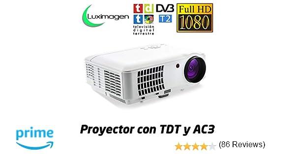 Proyector Full HD 1080P, LUXIMAGEN HD520 (2019 Nuevo), Proyector ...