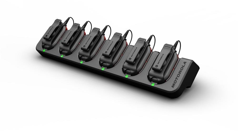 Motorola CLP1040 6 Pack Bundle with Multi Charger