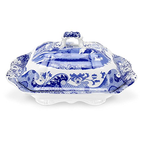 Spode Blue Italian Vegetable Dish and Cover, ()