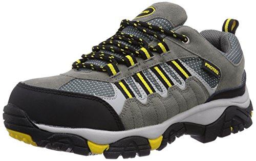 Gevavi Safety - Sneaker, Uomo Giallo (Grau-Gelb)
