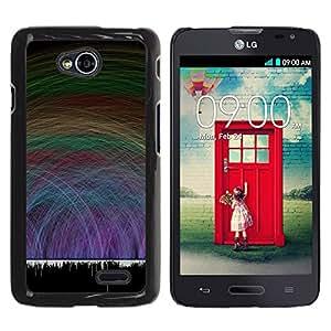 Graphic4You Rainbow Rays Design Thin Slim Rigid Hard Case Cover for LG Optimus L70 Dual