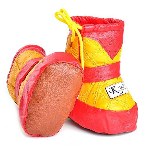 Bebé niñas niños high-top de piel de invierno botas de nieve para rojo rosso Talla:6-12 meses amarillo