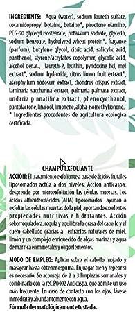 Algologie International Champú Suero Fitomarino, Exfoliante Anticaspa, con Miel y Limón - 300 ml