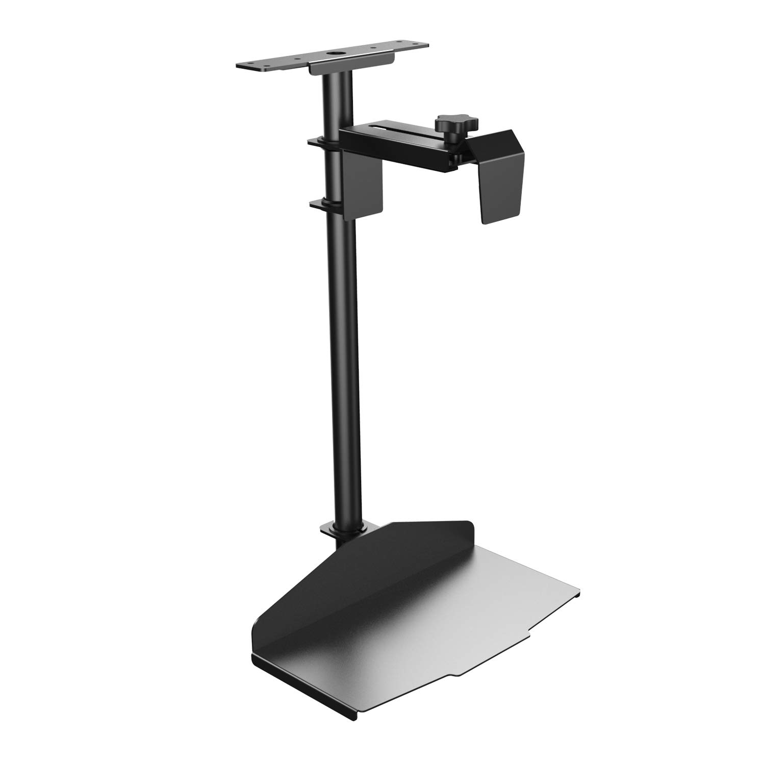 Eureka 360 Degree Rotating CPU Hanger-Height & Width Adjustable Fit for Gaming and Office - Black