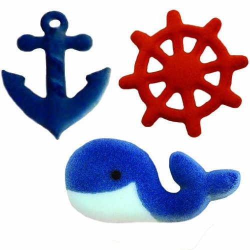 Lucks Dec-Ons Decorations Molded Sugar/Cup-Cake Topper, Nautical Assortment, 1 1/4 - 2 Inch, 84 Count by Lucks (Image #3)