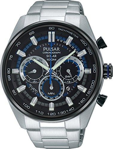 Pulsar Gents Solar Chronograph Bracelet Watch