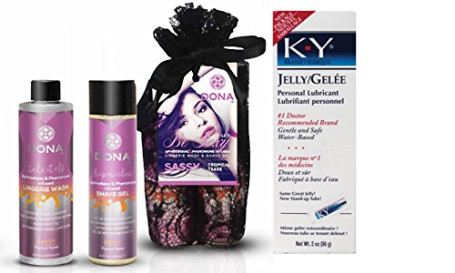 Bundle Package Of DONA Be Sexy Gift Set - Sassy And a K-Y Jelly 2oz. Tube by United Consortium
