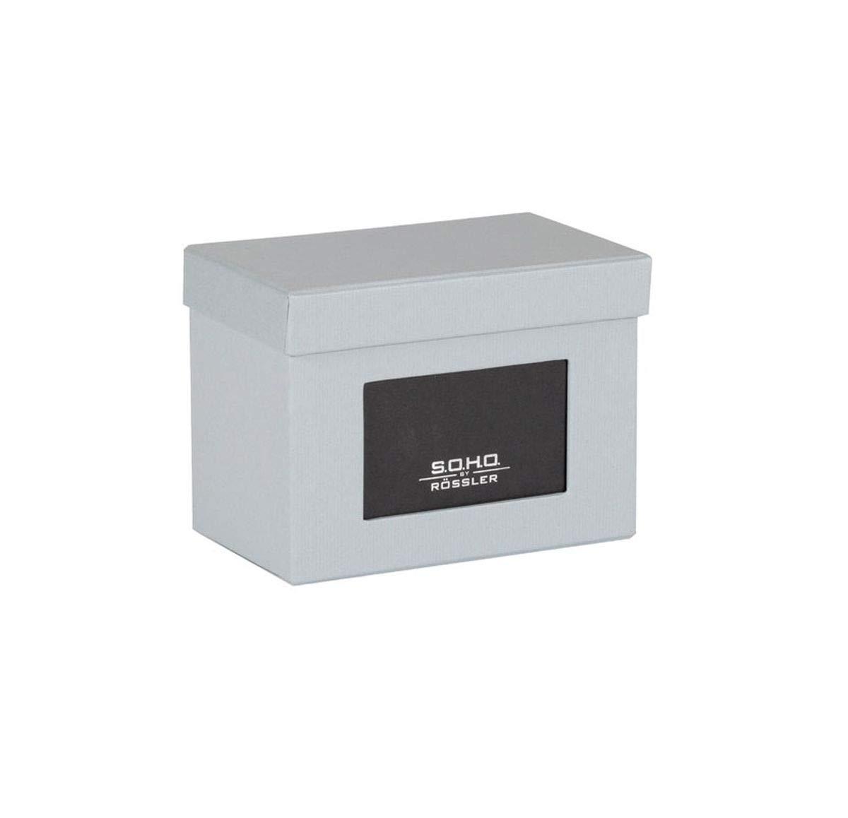 Rössler SOHO - Archivador para Fotos con Compartimento para Etiqueta, 16.5 x 10 x 12.5 cm, color gris