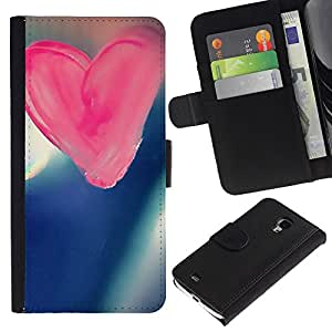 Ihec-Tech / Flip PU Cuero Cover Case para Samsung Galaxy S4 Mini i9190 MINI VERSION! - Love Pink Love