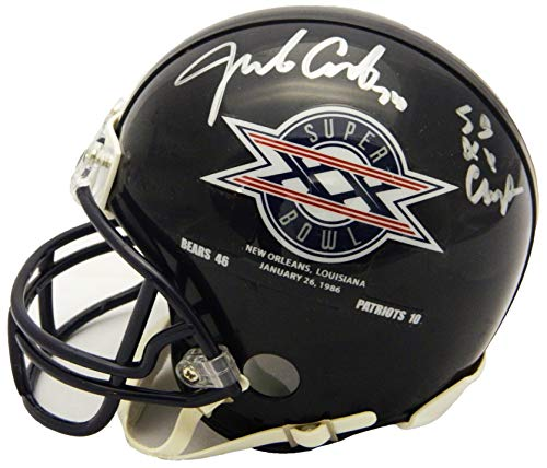 Jim Covert Signed Chicago Bears/Super Bowl XX Champs Logo Riddell Mini Helmet w/SB XX ()