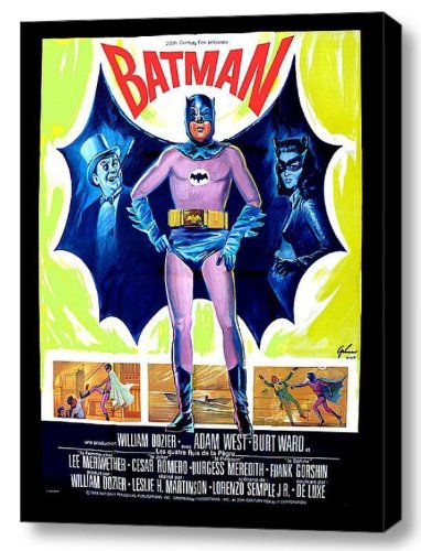 1966 French Batman Movie Poster 18 X 24 Stretched Canvas Print]()