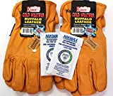 Kinco - Buffalo Leather, Cold Weather, Work Gloves for Men - 2-pack of the Toughest Most Durable, with Nikwax Waterproofing (Medium)