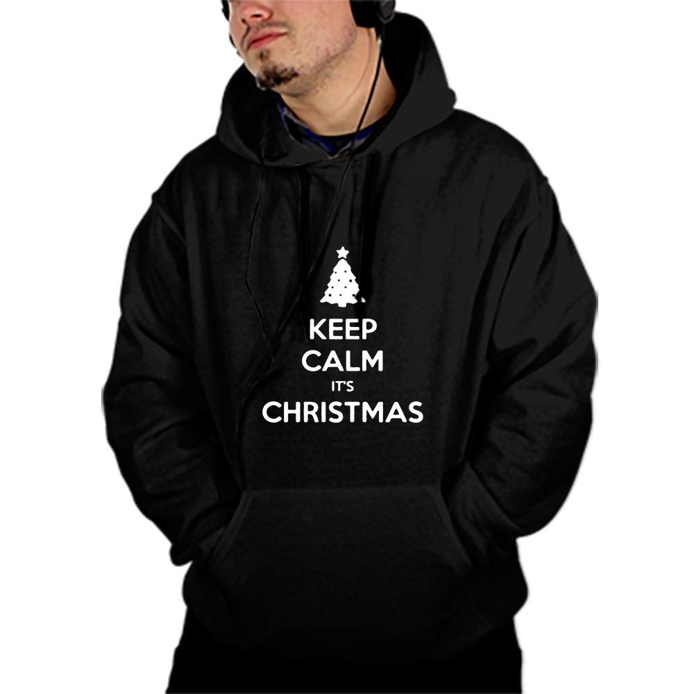 Unisex Im A Believer Santa Sweatshirts Fashion Hoodies Rave Clothing Hooded Pullover Front Pockets
