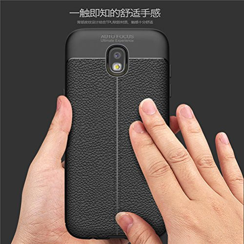 Funda Samsung Galaxy J730/J7(2017),Manyip Alta Calidad Ultra Slim Anti-Rasguño y Resistente Huellas Dactilares Totalmente Protectora Caso de Cuero Cover Case Adecuado para el Galaxy J730/J7(2017) B