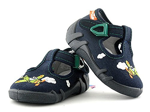 RenBut - Zapatillas de estar por casa de algodón para niño 13-102 Flugzeug