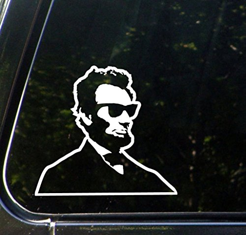 Zombie Slayer Costume Ideas (Cool Abe Abraham Lincoln Funny Decal Vinyl Sticker|Cars Trucks Vans Walls Laptop| WHITE |5.5 x 5 in|CCI708)